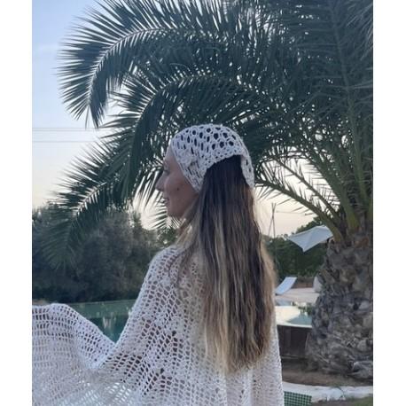 Bandana en coton au crochet ROMY