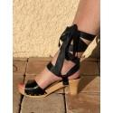 Sandales en bois AUDE Ruban
